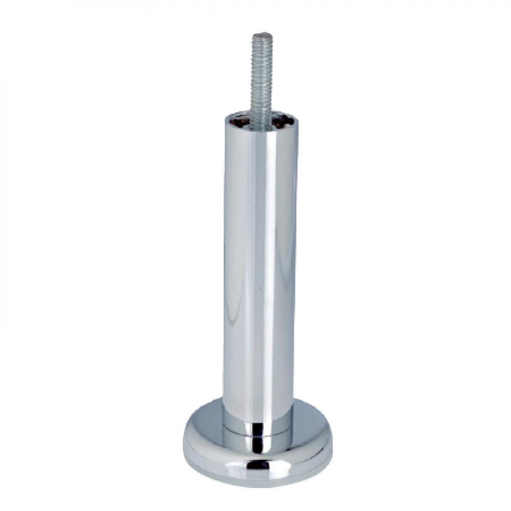 Chromen ronde meubelpoot 10 cm met kleine flens (M8)
