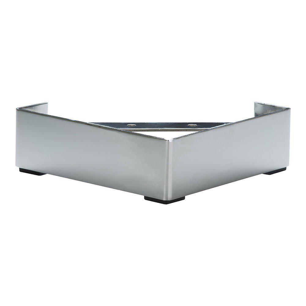 Chromen hoek meubelpoot 6,5 cm