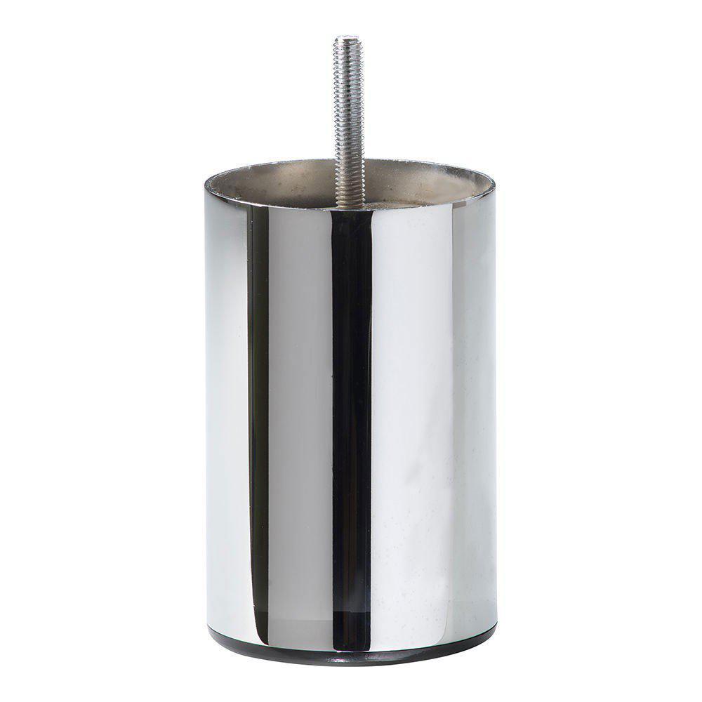 Chromen ronde meubelpoot 12 cm (M8)