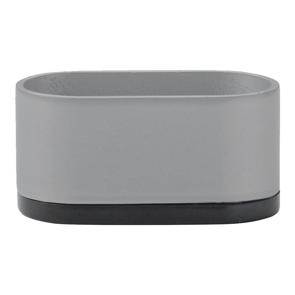 Grijze ovale meubelpoot 3 cm
