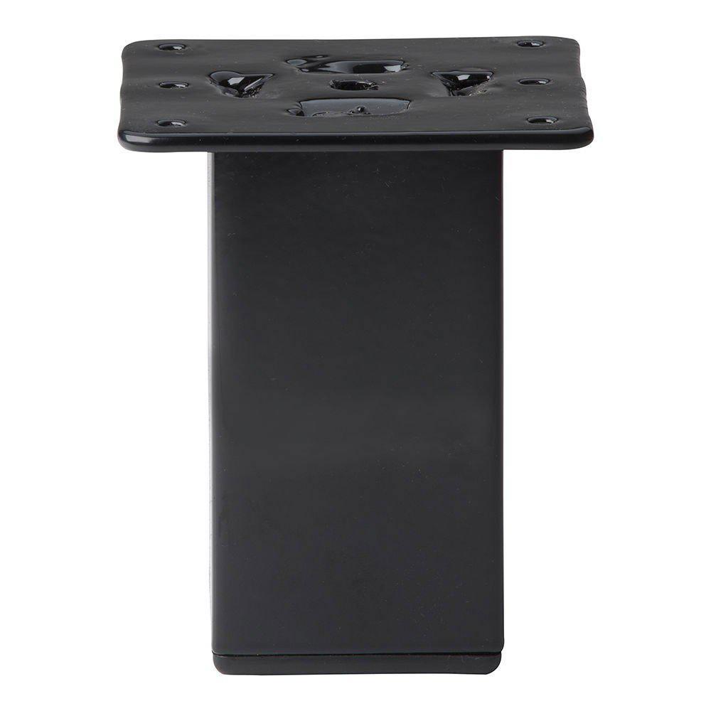 Zwarte vierkanten meubelpoot hoogte 10 cm