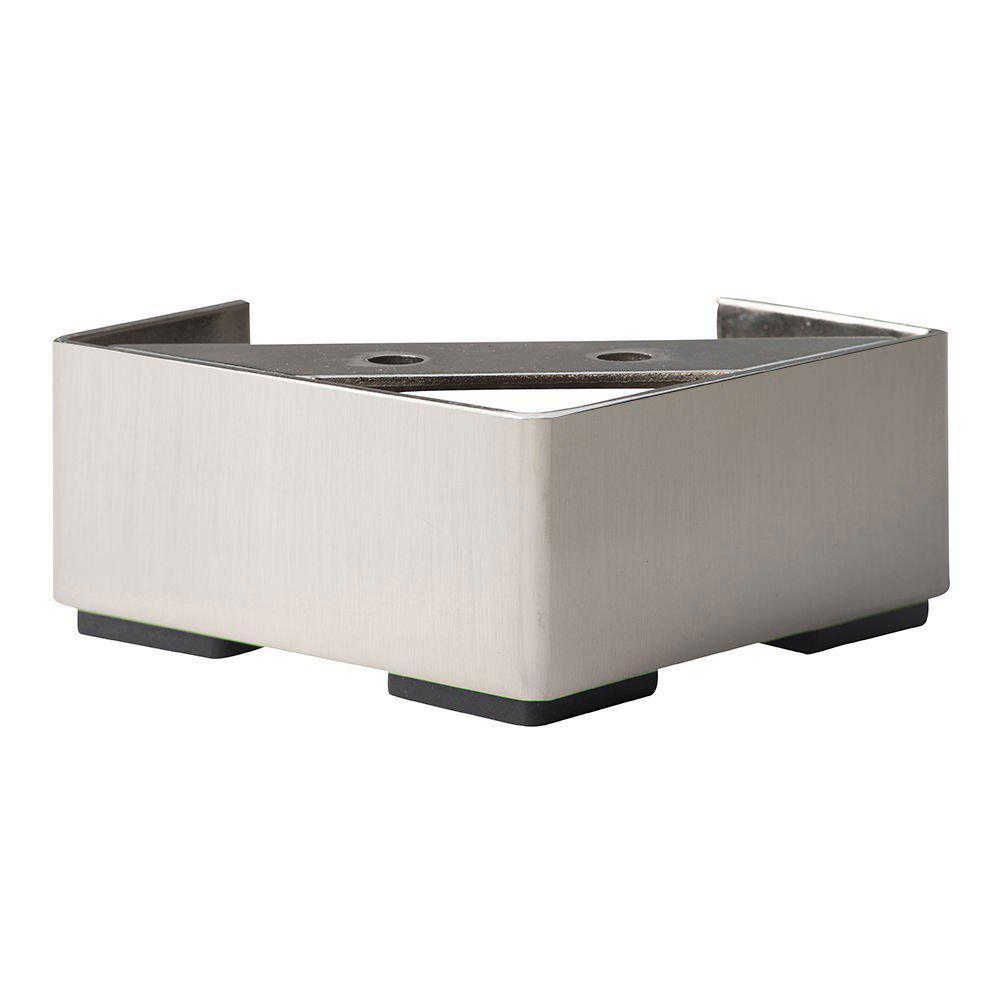 RVS vierkanten meubelpoot 4,5 cm
