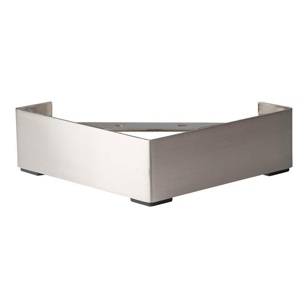 RVS hoekpoot meubelpoot 6,5 cm
