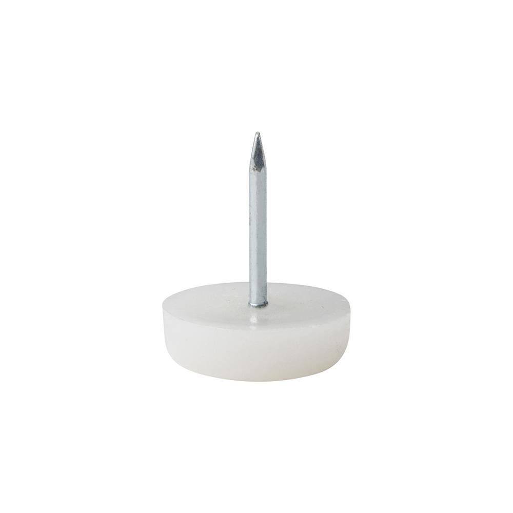 Meubelglijder kunststof wit diameter 1,8 cm (zakje 20 stuks)