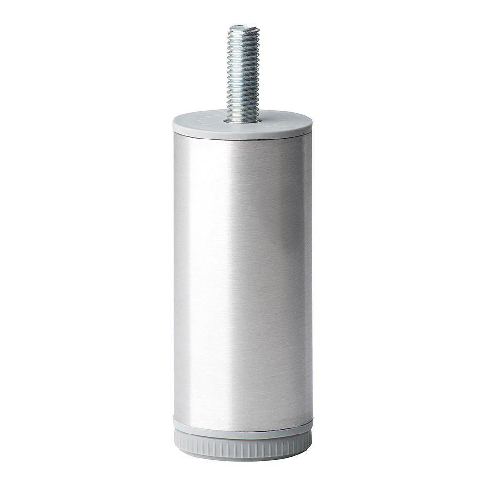 Ronde RVS meubelpoot 10 cm (M10)