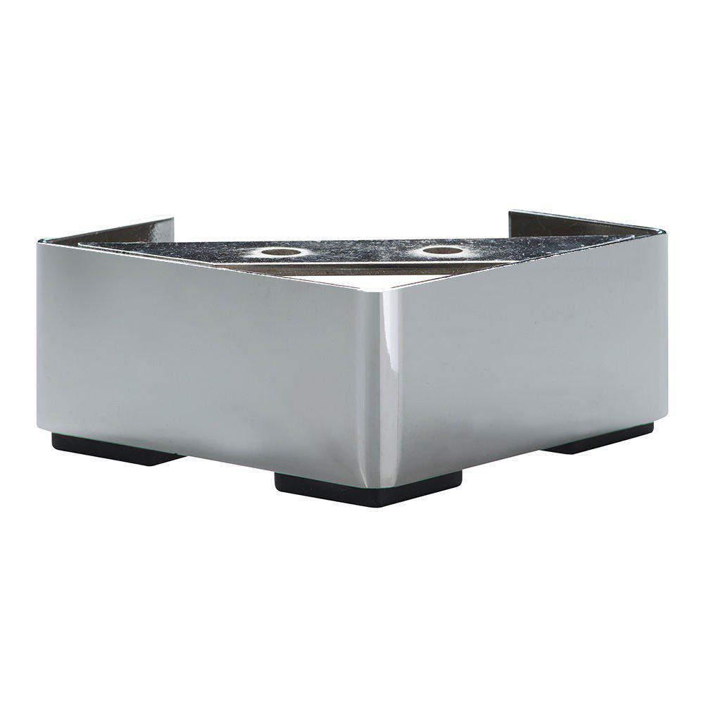 Chromen vierkanten meubelpoot 4,5 cm