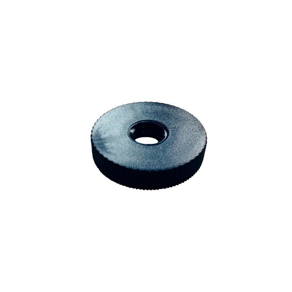Zakje 4 stuks steldop zwart diameters 3 cm 0,5 cm (M10)