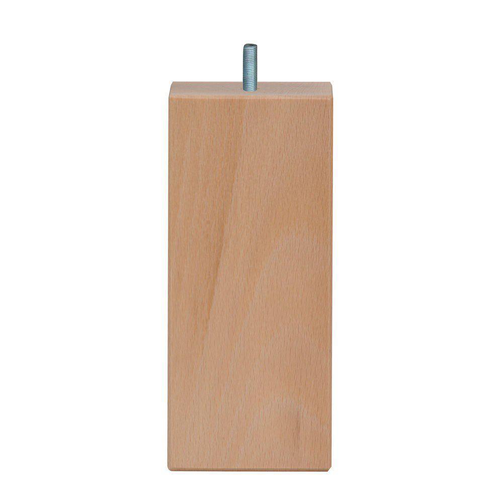 Vierkanten houten meubelpoot 16 cm (M8)