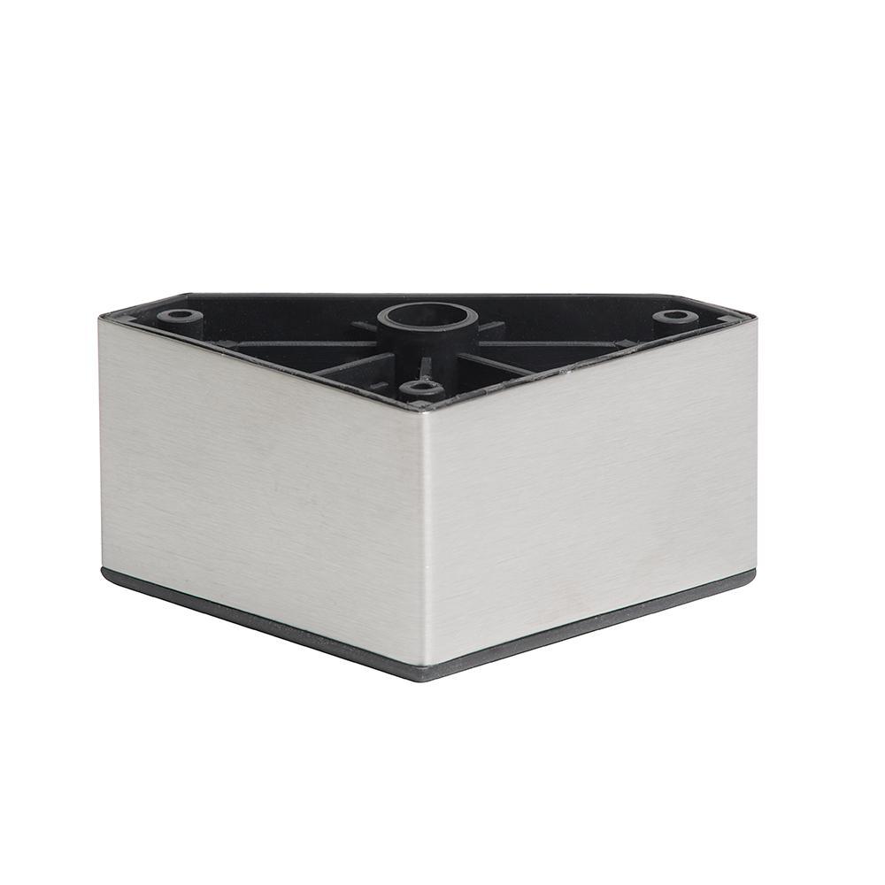 RVS - INOX plastic vierkanten meubelpoot 5 cm