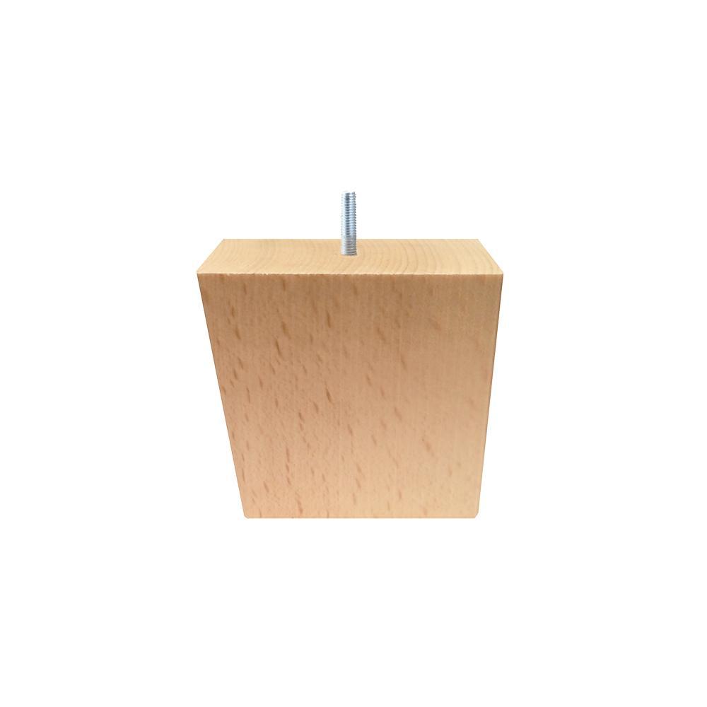 Houten schuine meubelpoot 8 cm (M10)