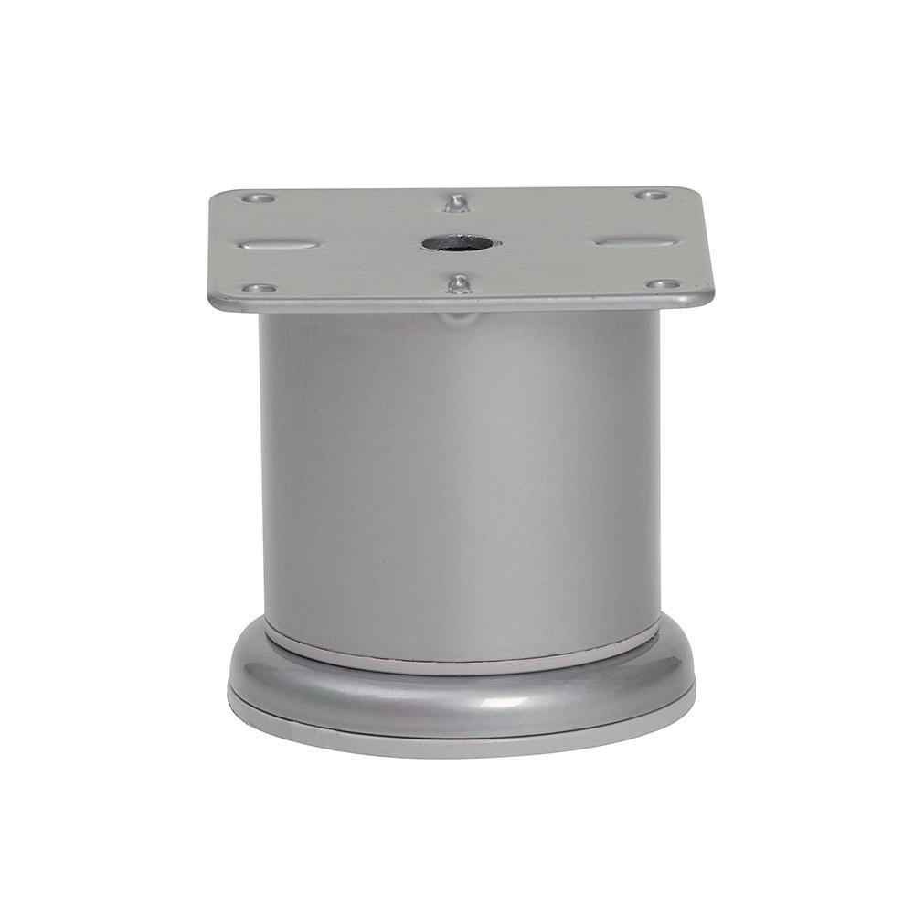 Grijze ronde meubelpoot 6,8 cm