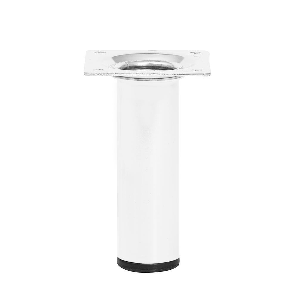 Witte ronde meubelpoot hoogte 10 cm