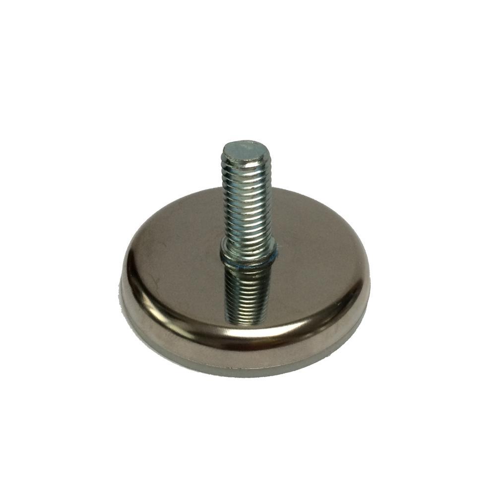 Chromen stelvoet rond diameter 5,5 cm (M10)