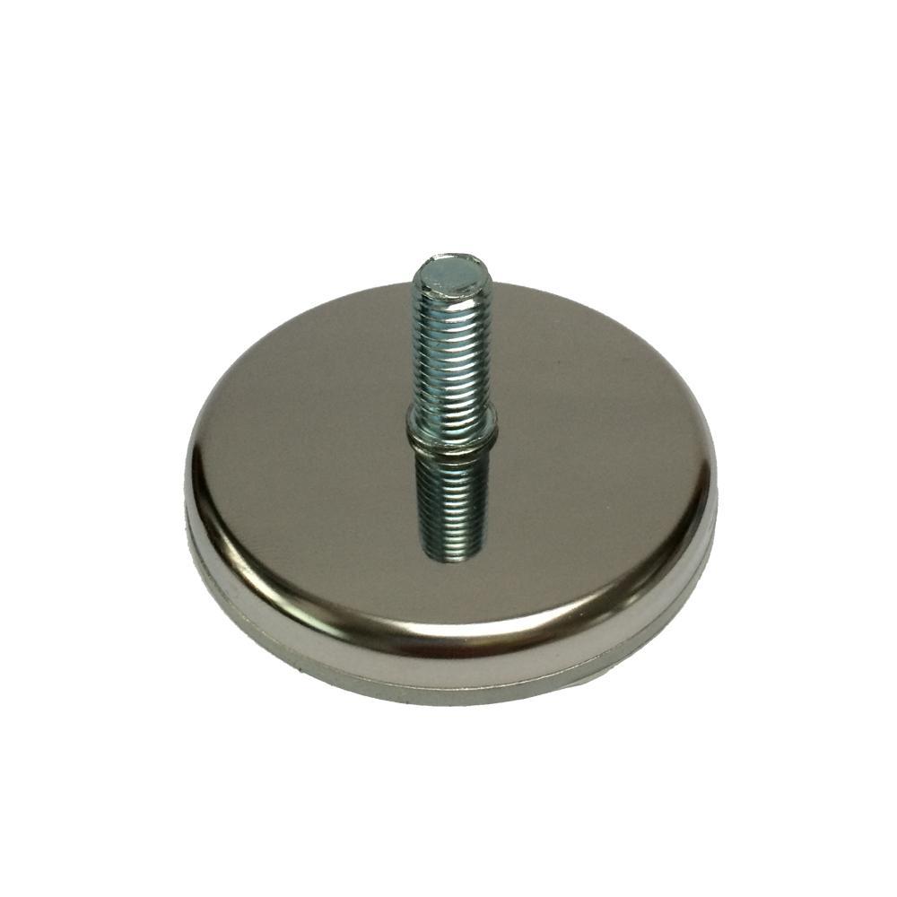 Chromen stelvoet rond diameter 7 cm (M10)