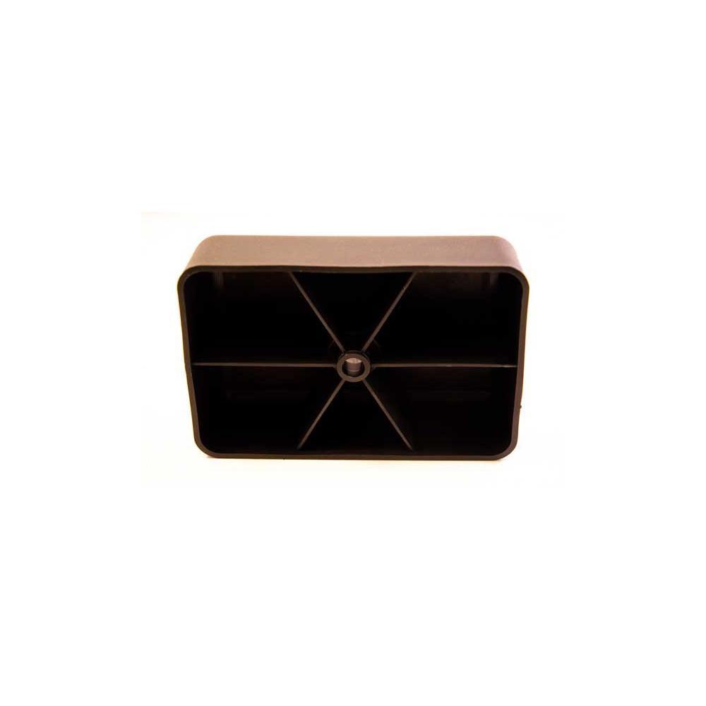 Plastic rechthoek meubelpoot 4,5 cm