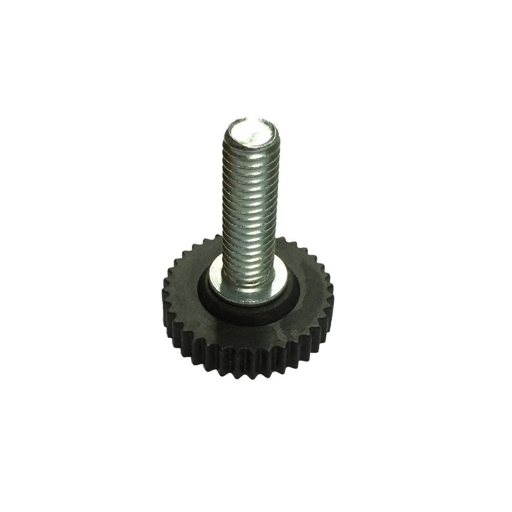 Zwarte stelvoet diameter 3 cm (M10) kopen