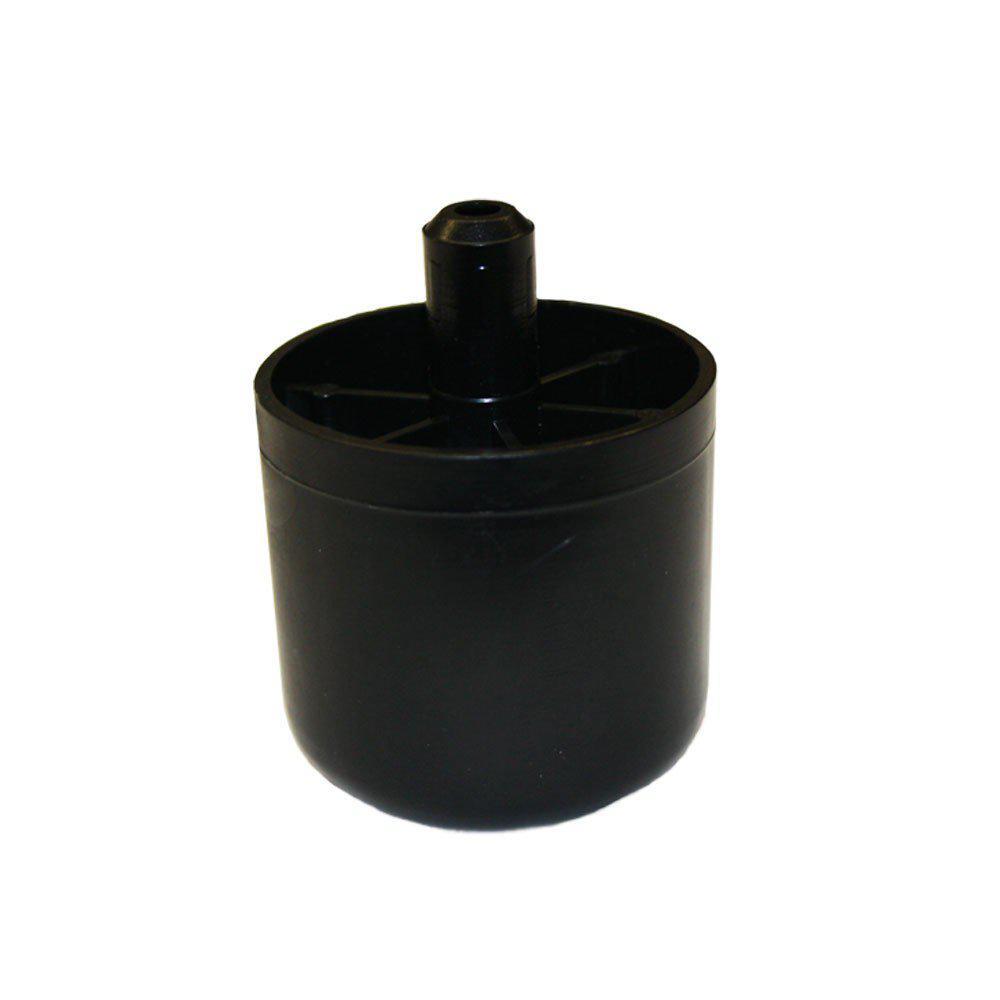 Plastic ronde meubelpoot 5 cm met pin