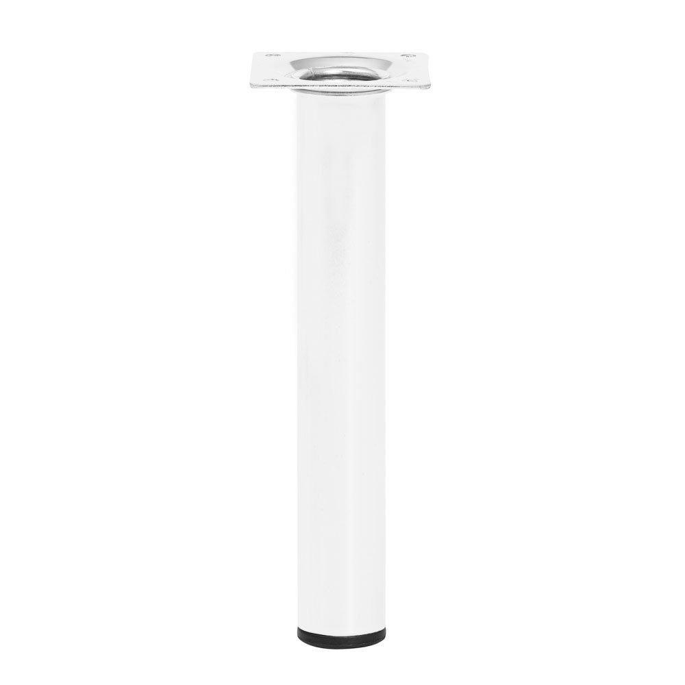 Ronde witte meubelpoot 20 cm