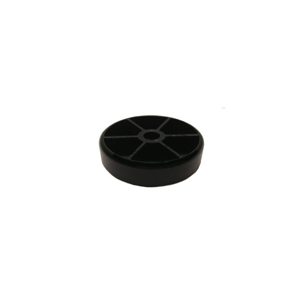 PVC glijder zwart diameter 4 cm (zakje 4 stuks)
