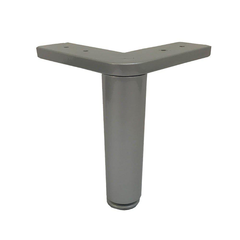 Grijze hoek meubelpoot 15 cm