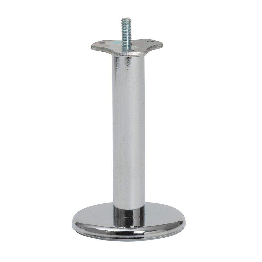 Chromen ronde meubelpoot 16 cm