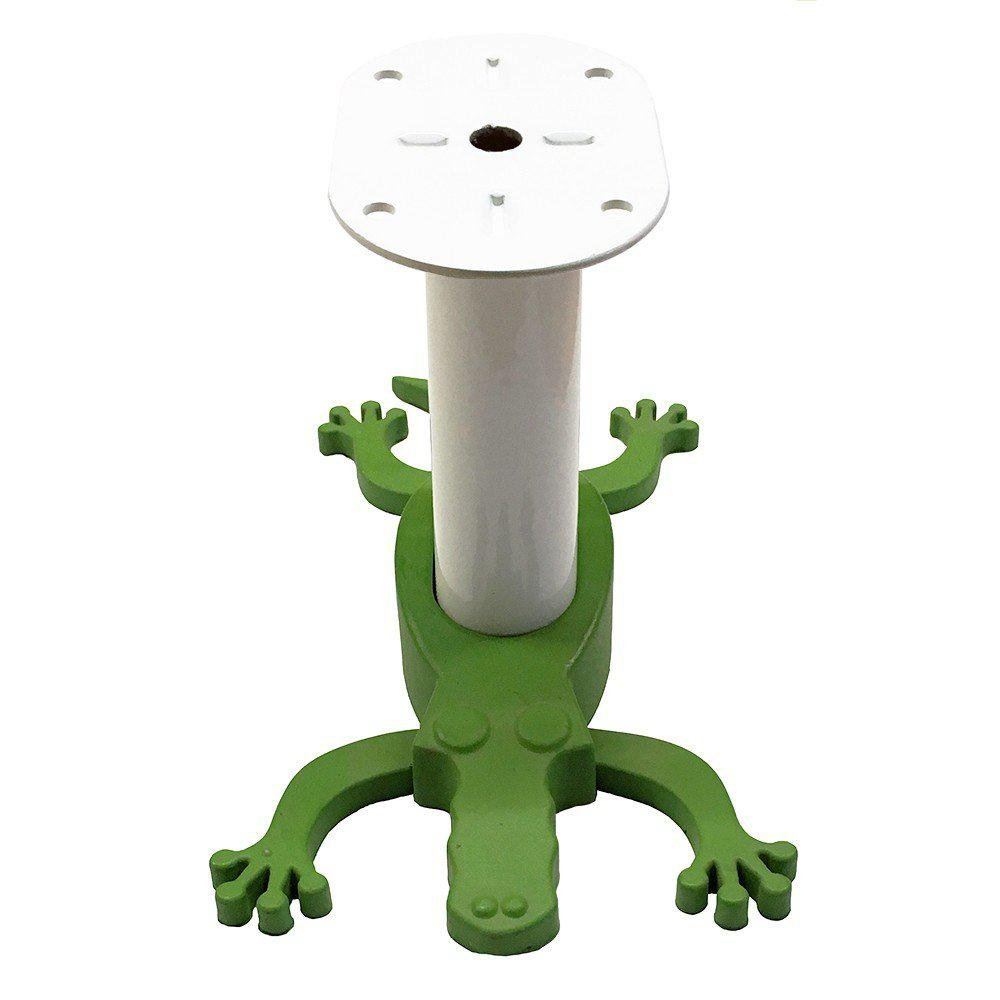 Witte kinderkamerpoot met groene krokodil 10 cm