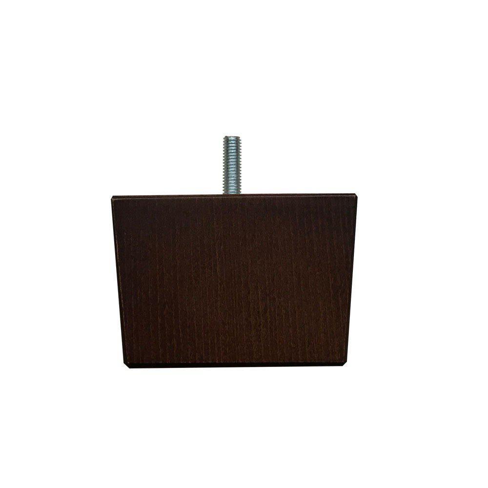 Vierkanten donkerbruine houten meubelpoot 6 cm (M8)
