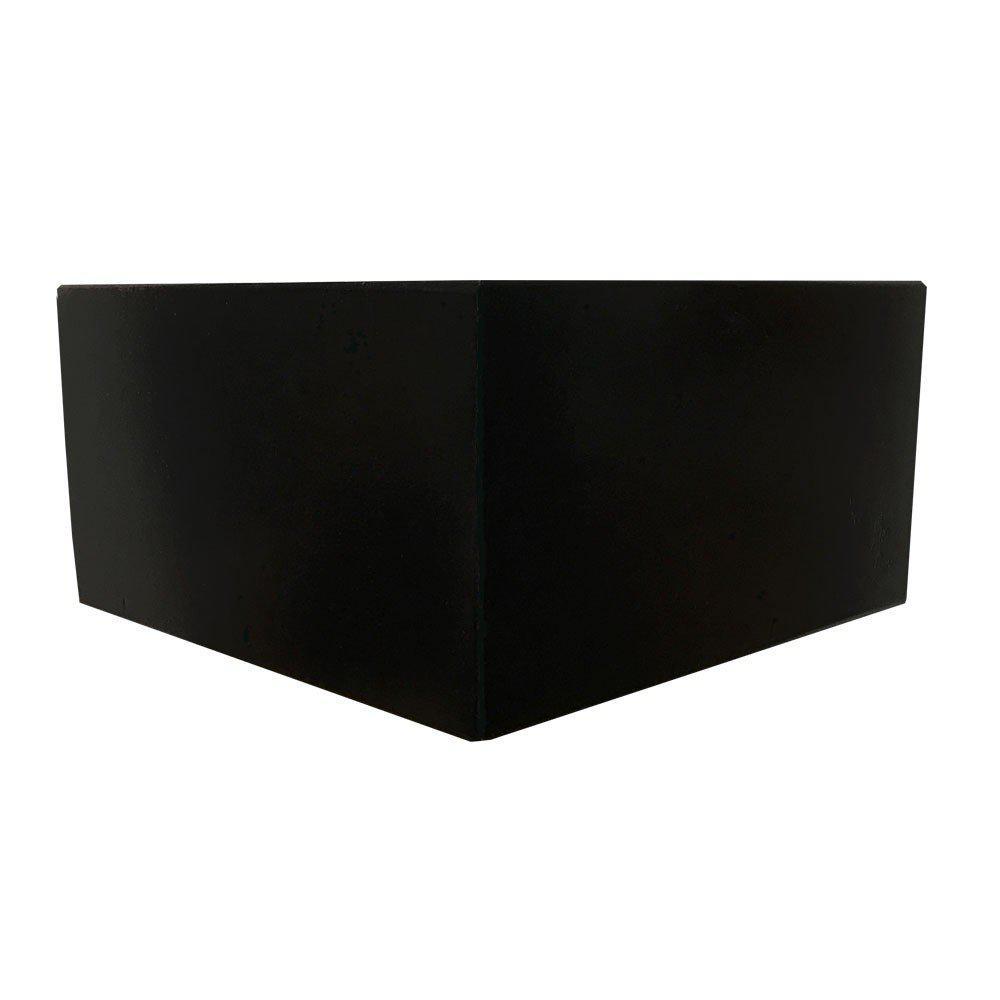 Zwarte houten hoekmeubelpoot 10 cm