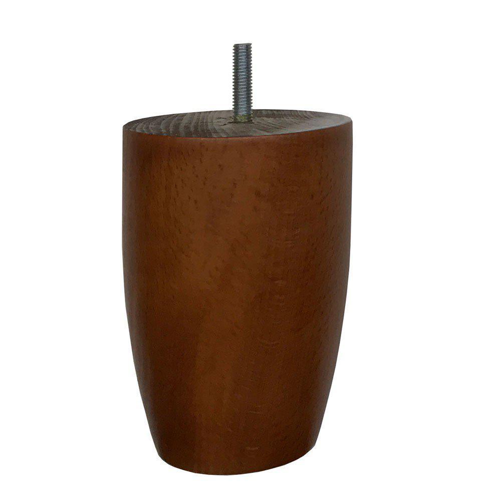 Kersenhouten ronde meubelpoot 12 cm (M8)