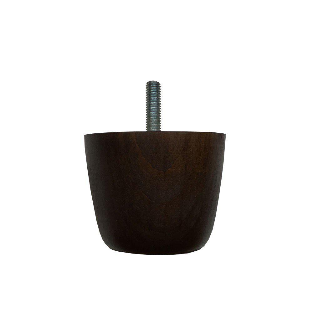 Ronde donkerbruine houten meubelpoot 5,5 cm (M8)