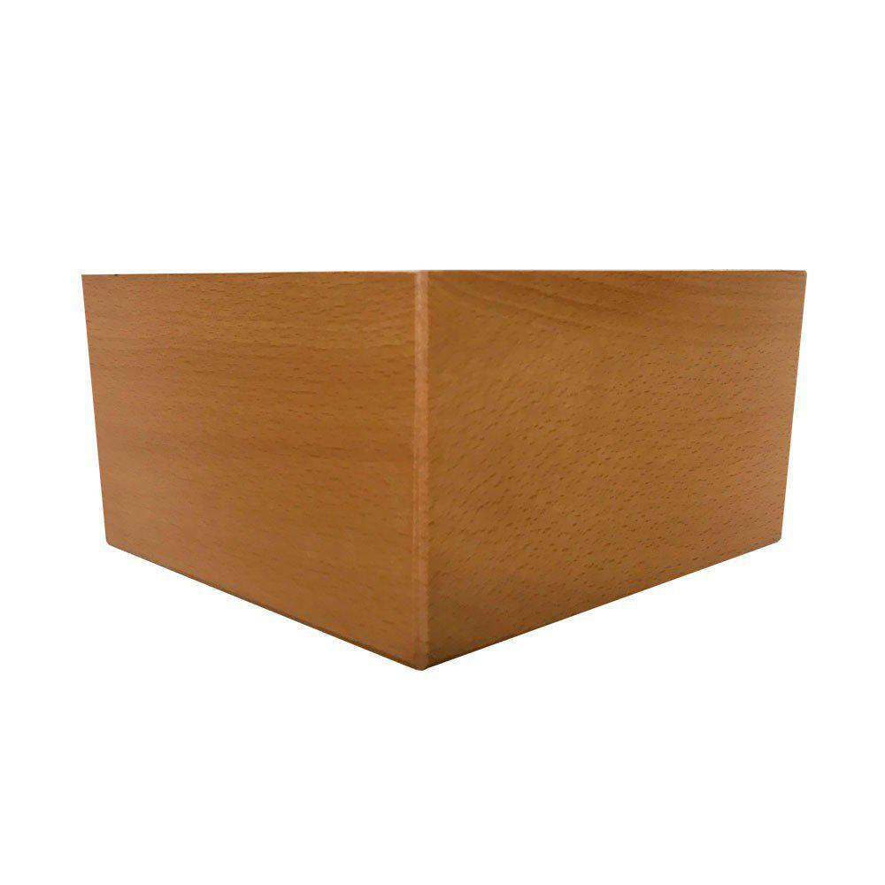 Blank houten hoekpoot 10 cm