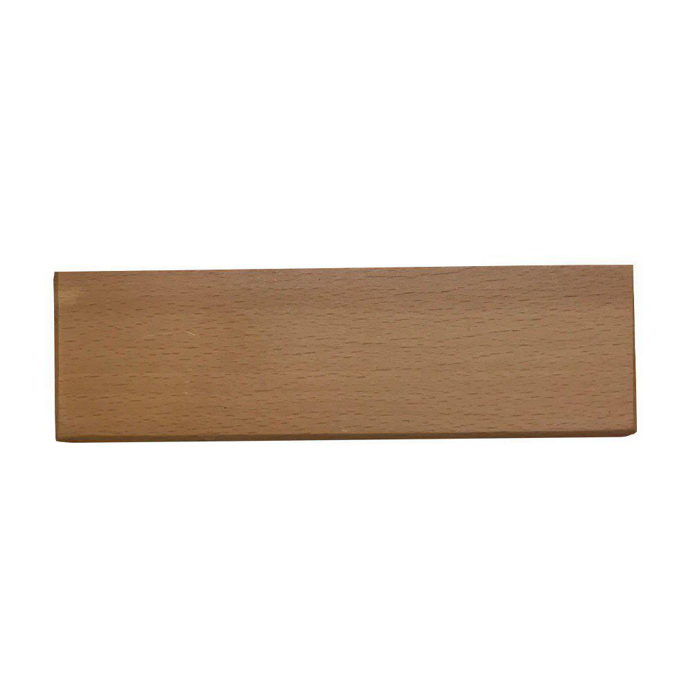 Rechthoekige blanke houten meubelpoot 4,5 cm