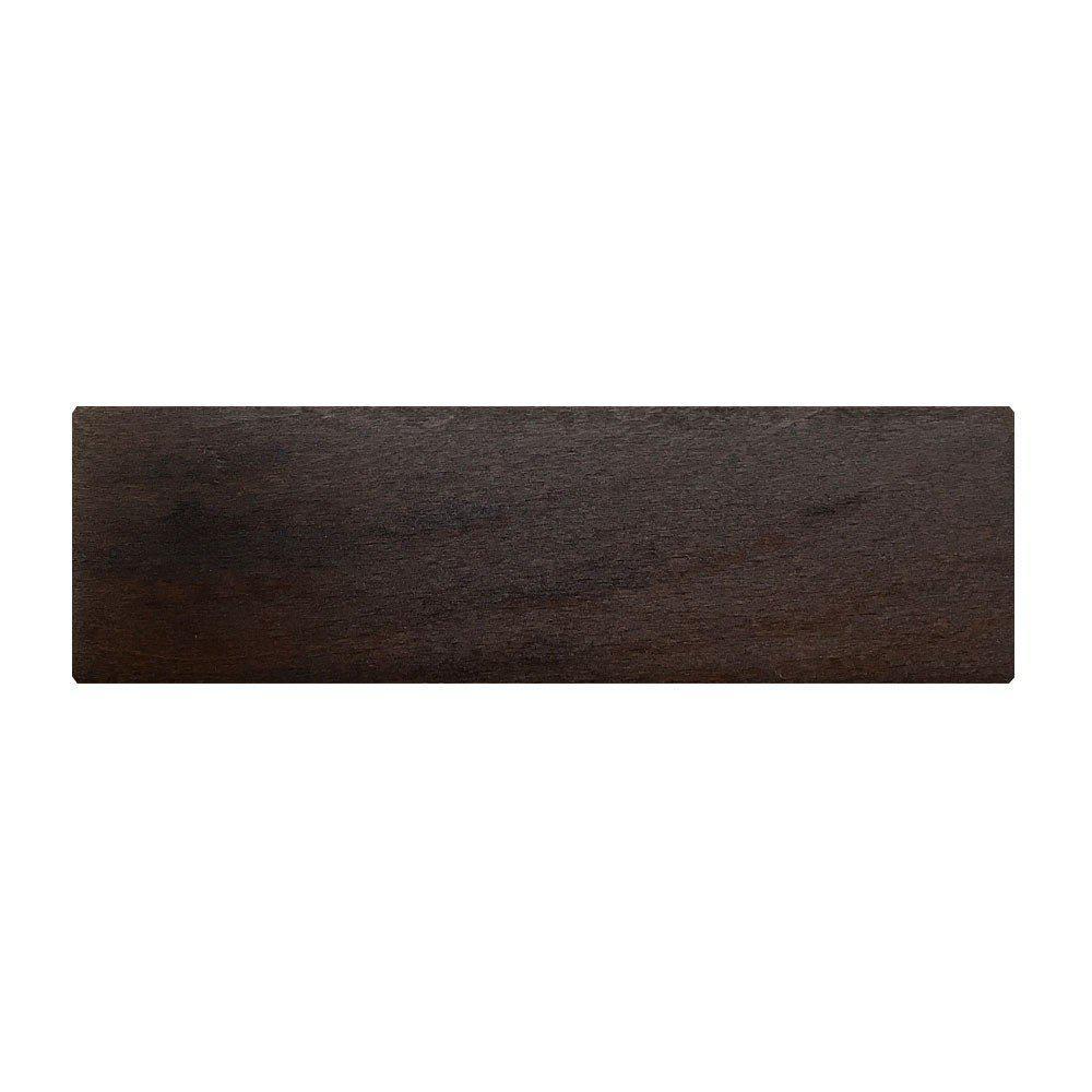 Rechthoekige donkerbruine houten meubelpoot 4,5 cm