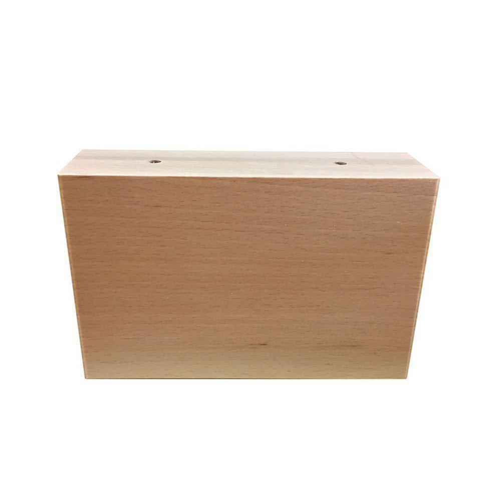 Rechthoekige blanke houten meubelpoot 9 cm