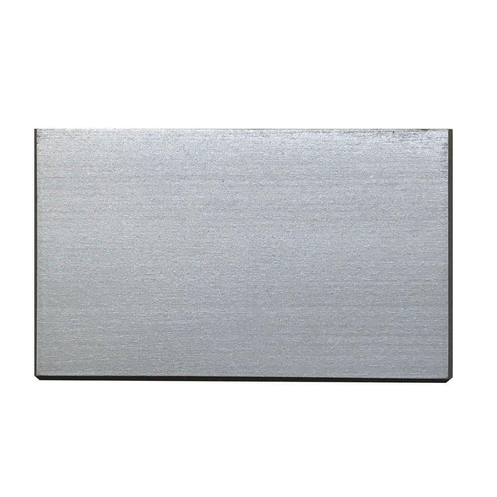 Rechthoekige zilveren houten meubelpoot 9 cm