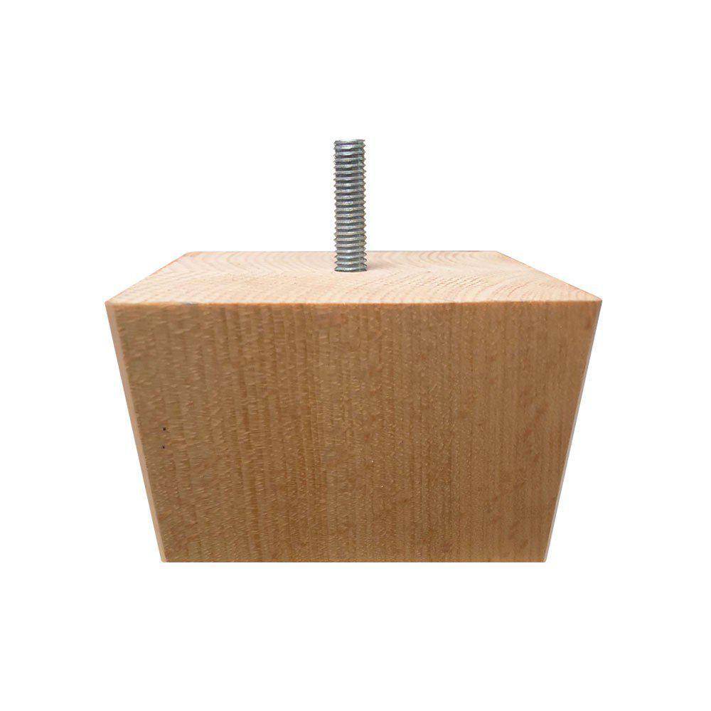 Vierkanten houten meubelpoot 6 cm (M8)