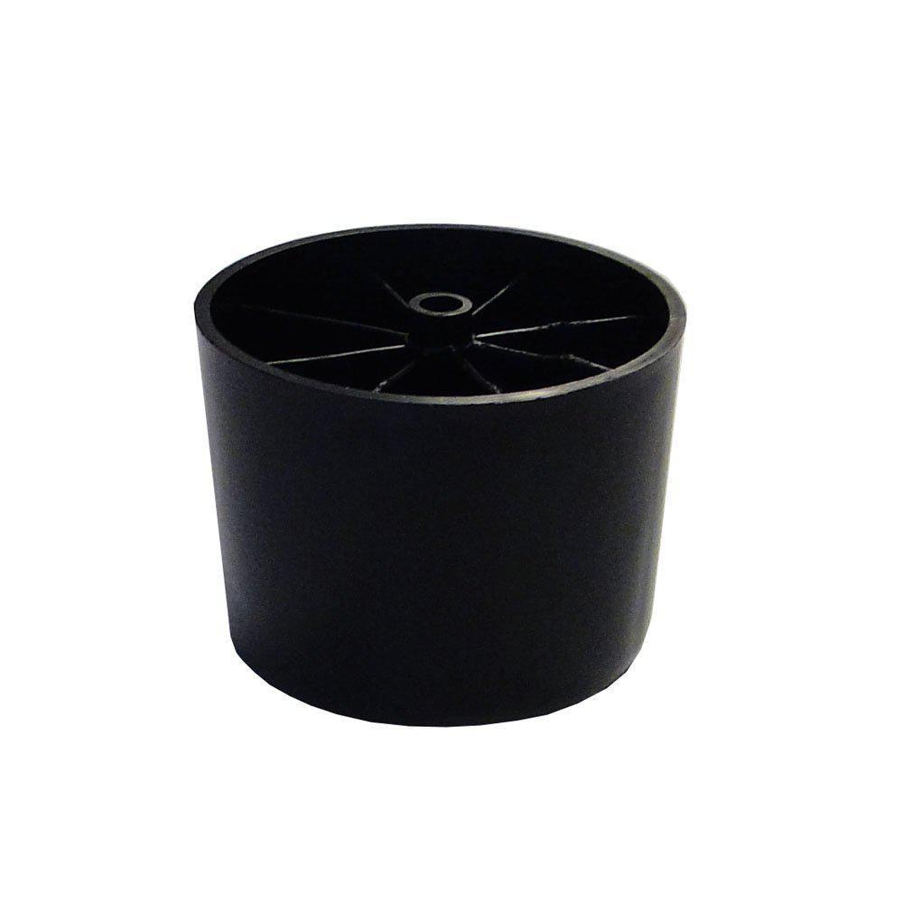Plastic ronde meubelpoot hoogte 7 cm