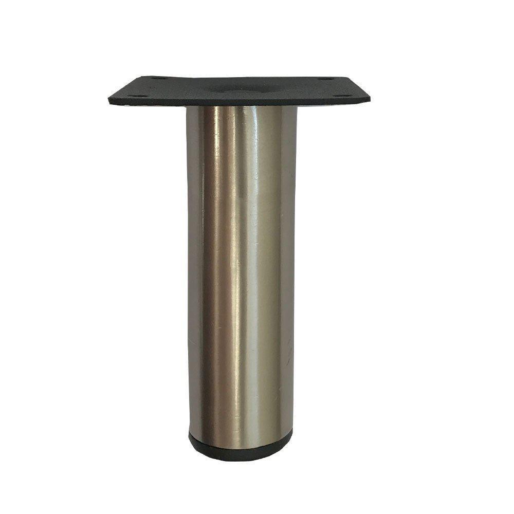 RVS ronde meubelpoot 10 cm