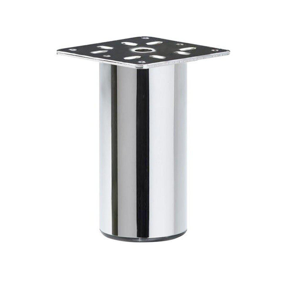 Chromen ronde meubelpoot 10 cm