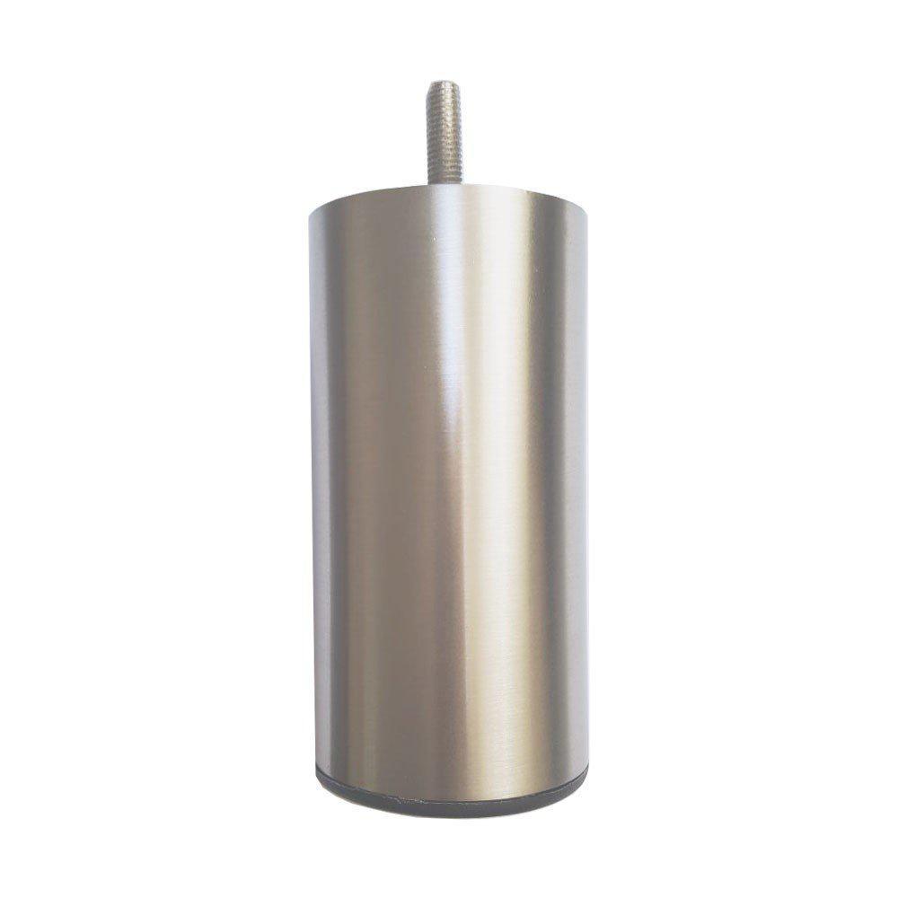 RVS ronde meubelpoot 12 cm (M8)