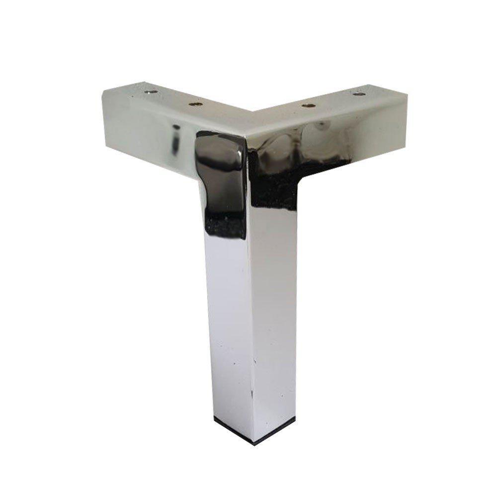 Chromen moderne hoekpoot 15 cm