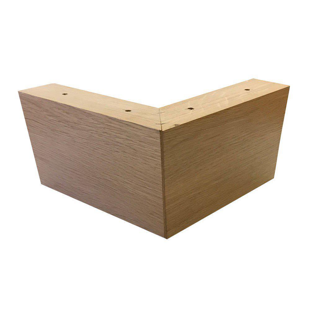 Eiken houten hoekpoot 10 cm