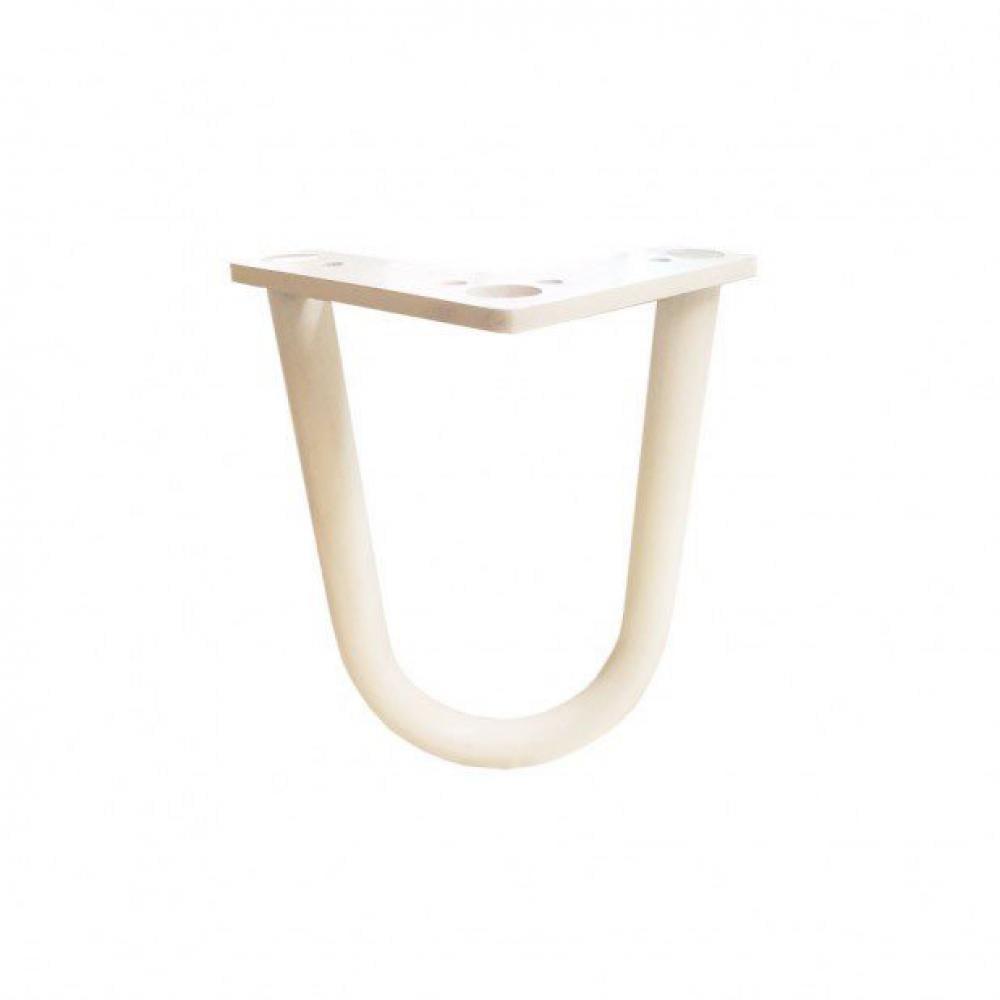 Witte hairpin tafelpoot 15 cm