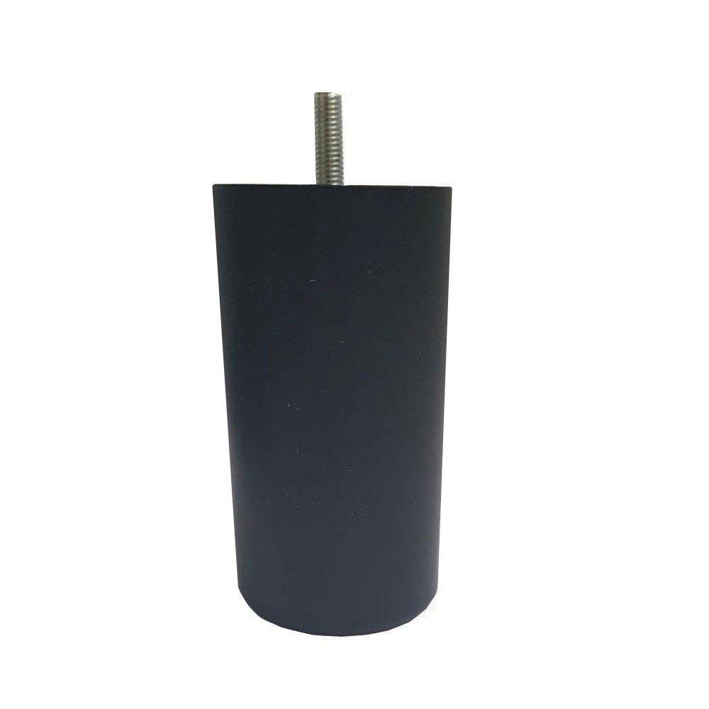 Zwarte plastic ronde meubelpoot 12 cm (M8) kopen