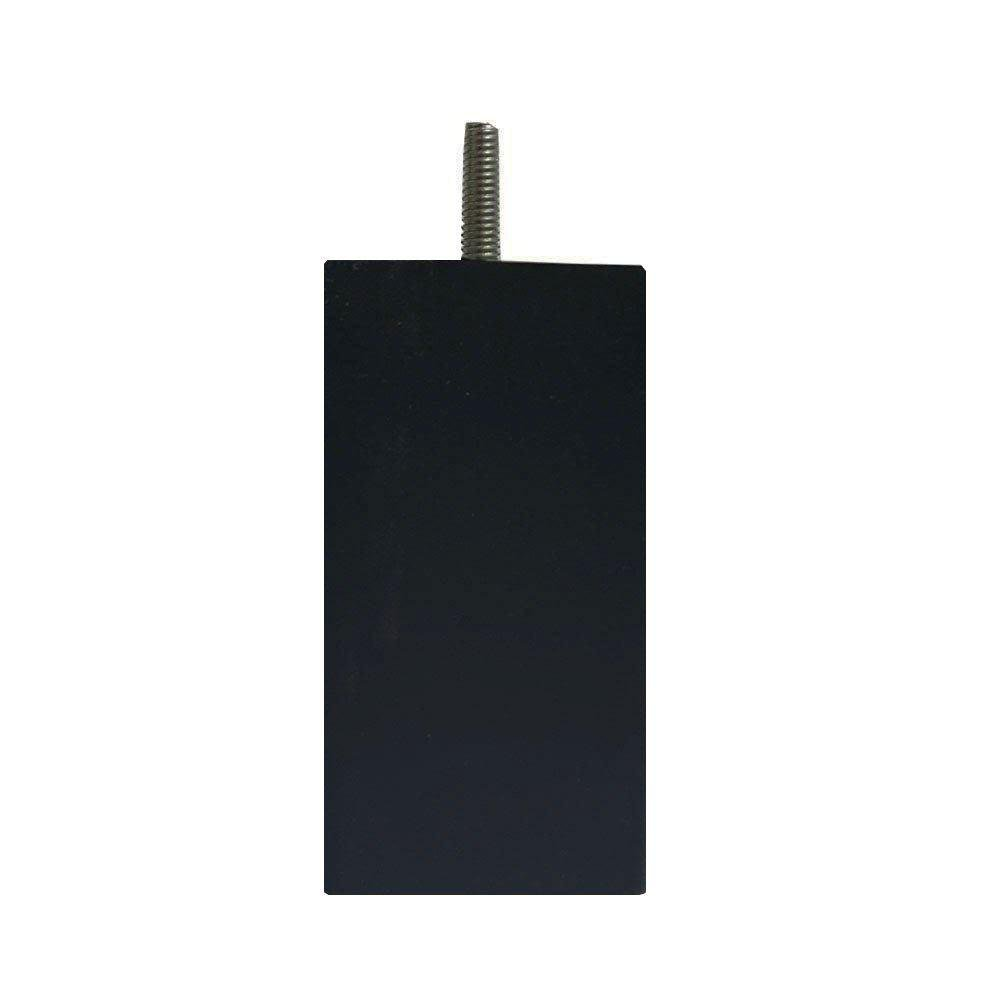 Zwarte vierkanten plastic meubelpoot 12 cm (M8) kopen