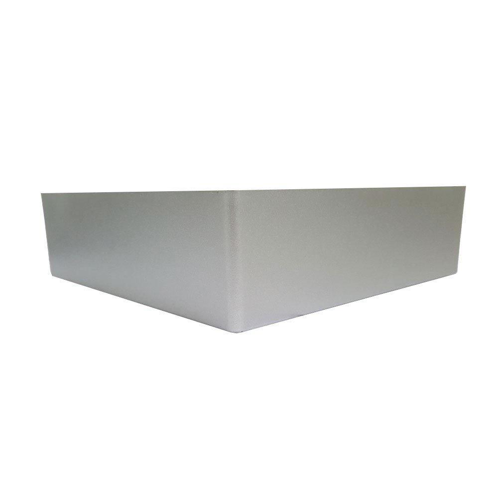 Zilveren plastic hoekpoot 6 cm