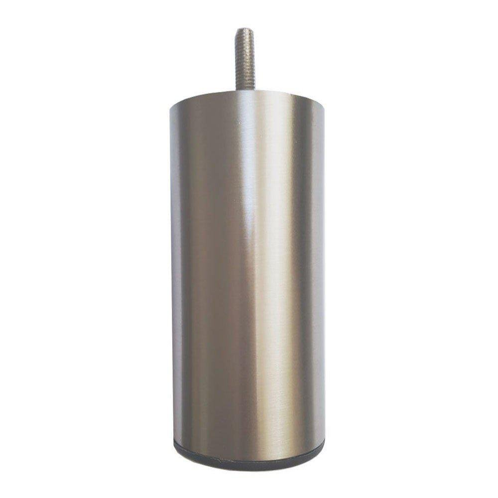 RVS ronde meubelpoot 16 cm (M8)