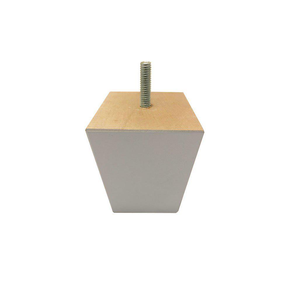 Zilveren vierkanten houten meubelpoot 7 cm (M8)