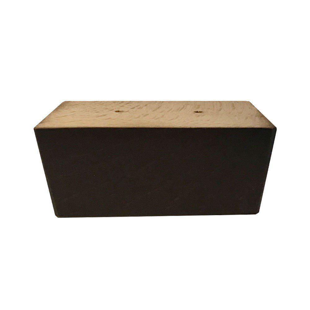 Bruine rechthoekige houten meubelpoot 4,5 cm