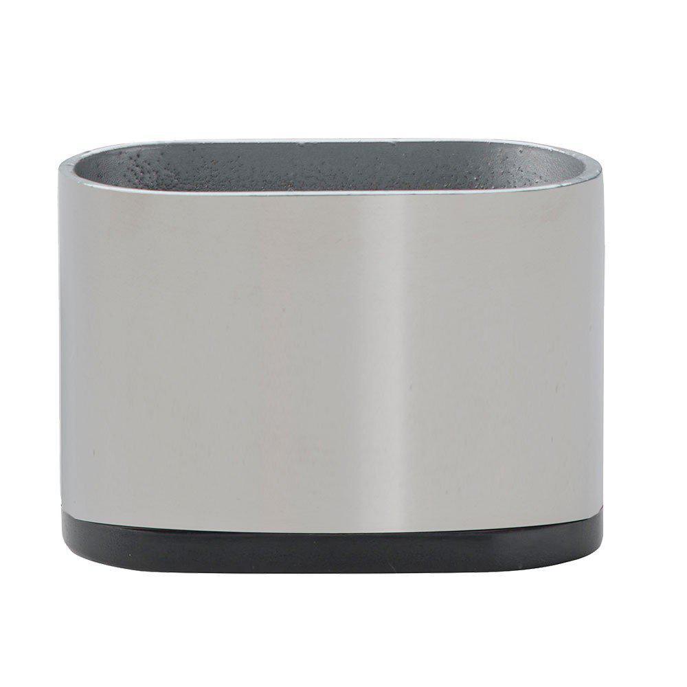 Ovale RVS meubelpoot 5 cm